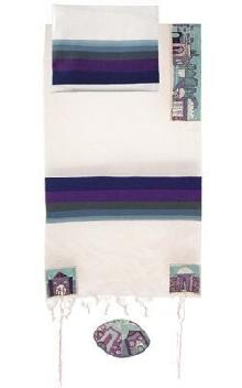 Tallit hand embroidered atara and corners