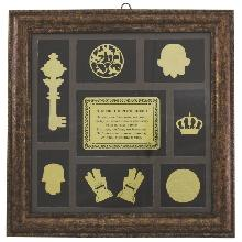 House blessing in Russian with Jewish symbols in a wooden frame 32 * 32