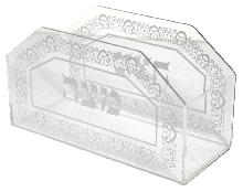 Stand for the matzot (transparent plexiglass) 22 cm