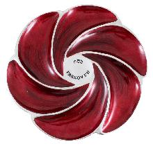 Aluminum passover plate  34 cm - red with stripes