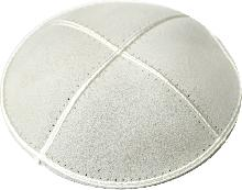 leather Kippah of 14 cm